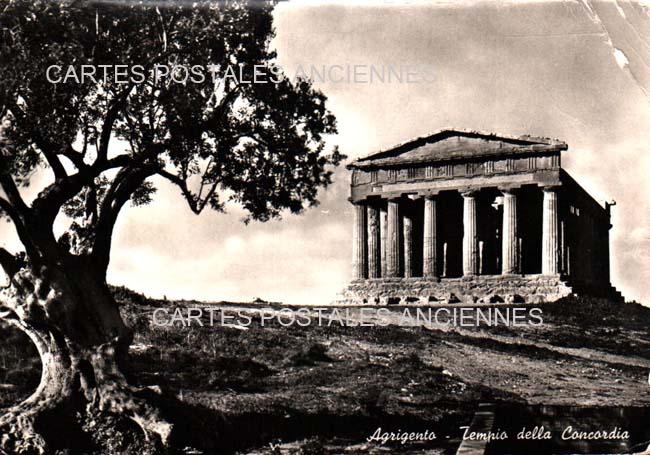 Union européenne Old postcards italy Agrigente