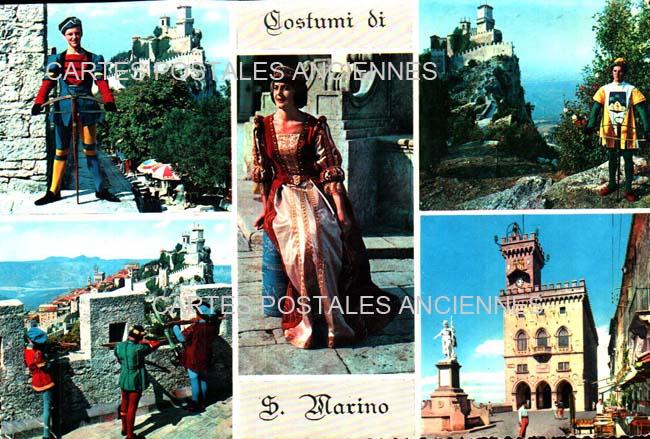 Union européenne Old postcards italy San marino