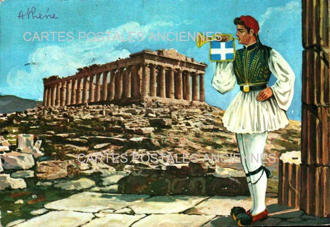Old postcards tradition Tradition greece