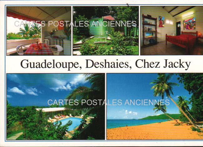 Cartes Postales Anciennes Guadeloupe. Deshaies