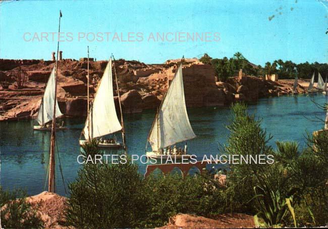 Old postcards world Egypt Assouan