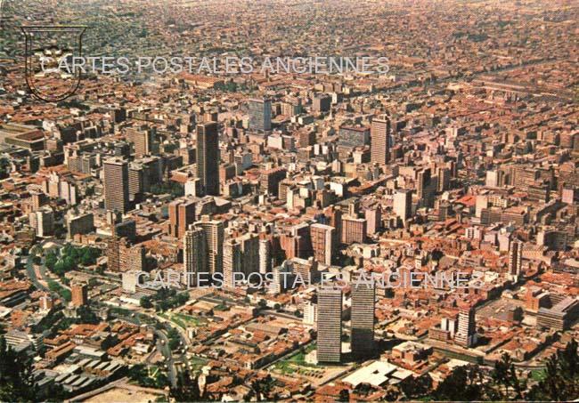 Old postcards world Colombia Bogota