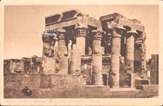Cartes Postales Anciennes Monde Egypte Kôm ombo