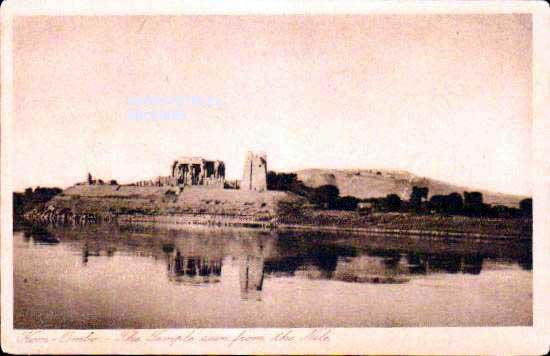 Old postcards world Egypt Kôm ombo