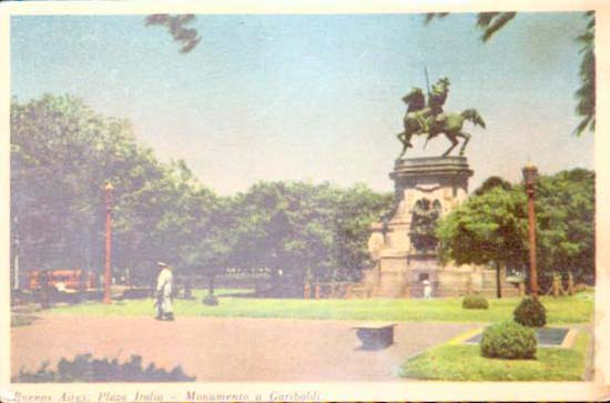 Old postcards world Argentina Buenos aires