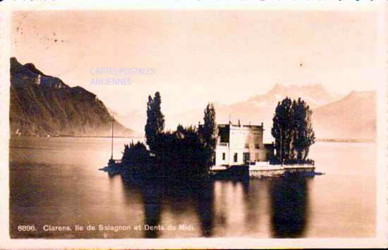 Old postcards switzerland Clarens
