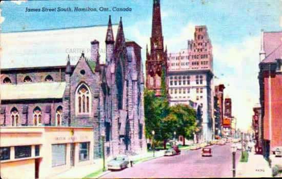 Old postcards world Canada Hamilton
