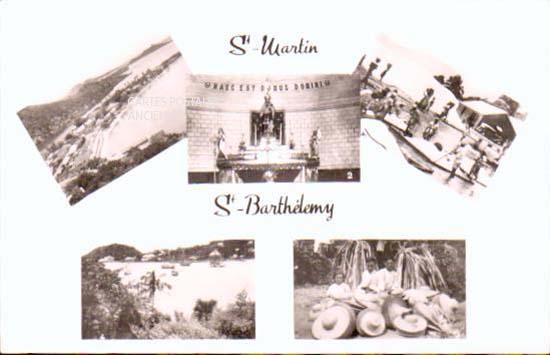 Cartes Postales Anciennes Saint barthélemy