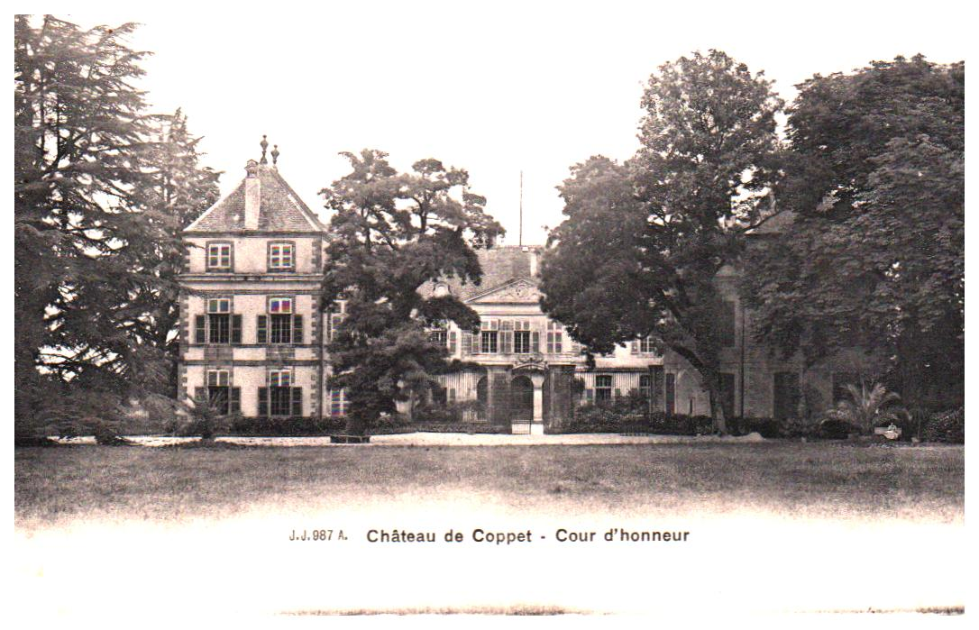 Old postcards switzerland Coppet