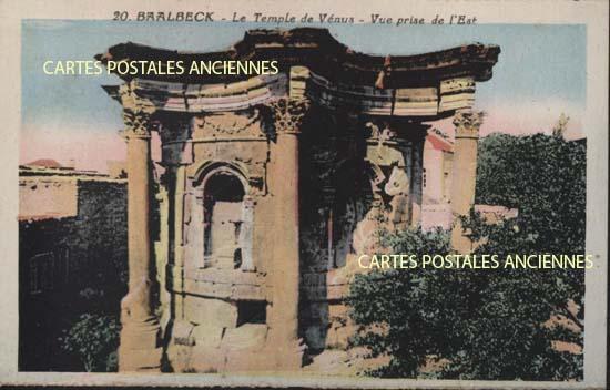 Old postcards world Lebanon Baalbeck