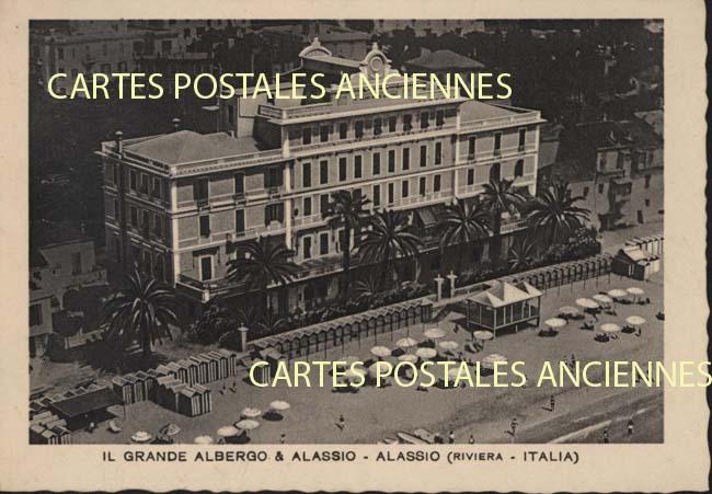 Union européenne Old postcards italy Alassio