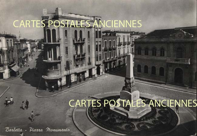 Union européenne Old postcards italy Barletta