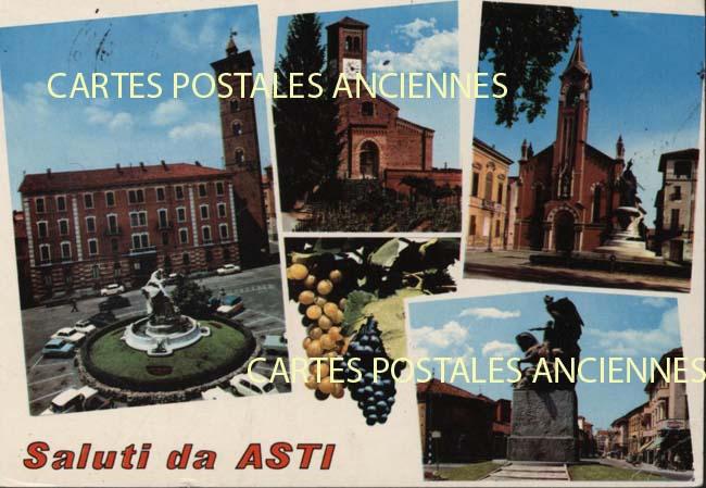 Union européenne Old postcards italy Asti