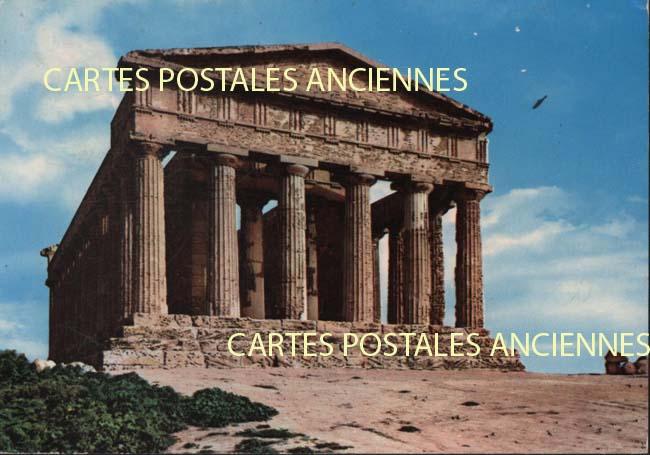 Union européenne Old postcards italy Agrigento