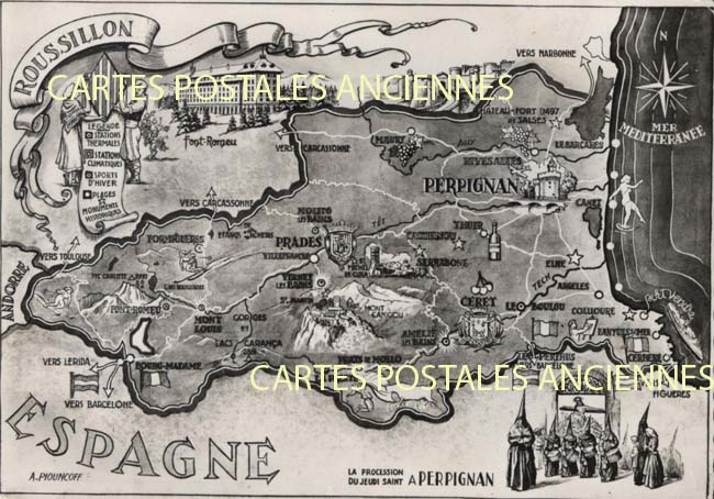 Cartes Postales Anciennes  Perpignan