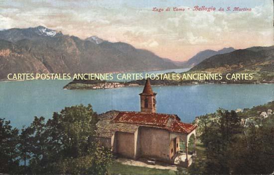 Union européenne Old postcards italy Bellagio