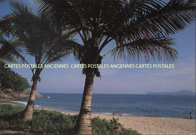 Old postcards world Brazil Ubatuba