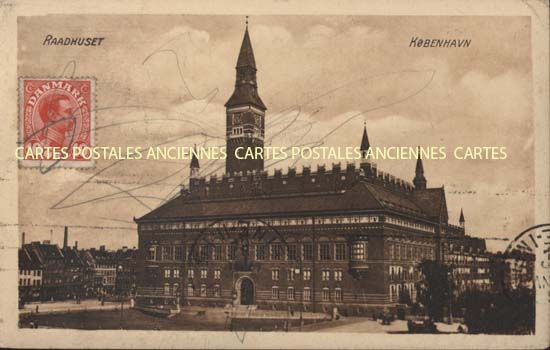 Union européenne Old postcards denmark Raadhuset