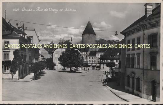 Old postcards switzerland Bulle