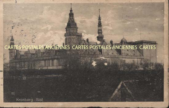 Old european union postcards Denmark Copenhague