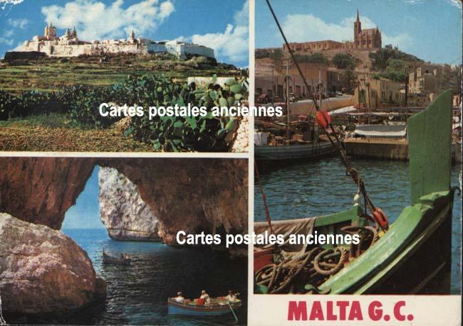 Cartes Postales Anciennes France Monde République de malte