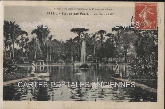 Old postcards world Brazil São paulo