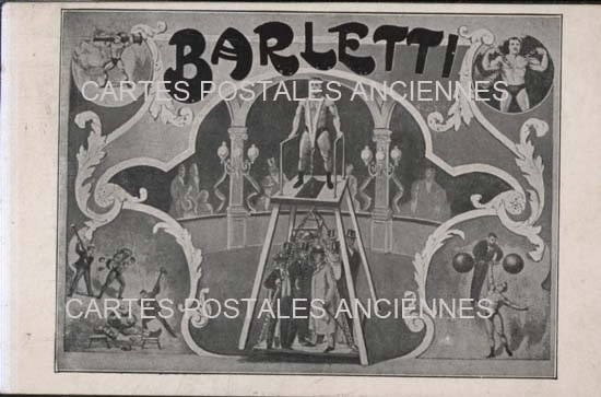 Cartes postales anciennes artiste présentateur Clown cirque