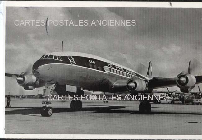 Old postcards aviation, aircraft Avion air charter
