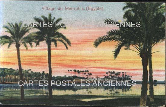 Cartes Postales Anciennes France Monde Egypte Memphis