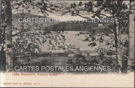Old postcards world Canada Québec