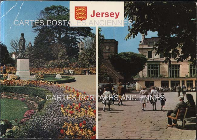 Old postcards jersey & guernsey