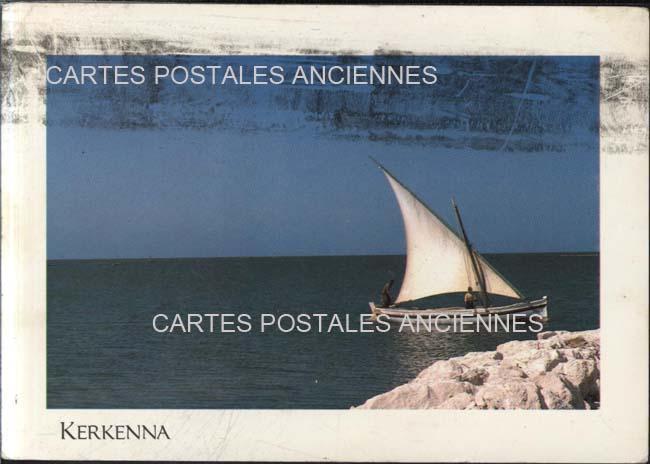 Old postcards world Tunisia île de kerkennah