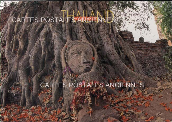 Cartes Postales Anciennes Monde Thailande Ayutthaya