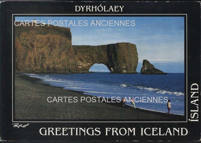 Old postcards iceland
