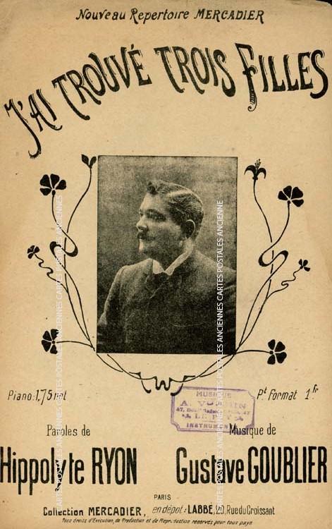 Cartes Postales Anciennes Autres collections  partition musique