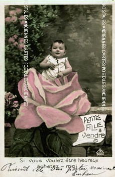 Old postcards fantasy personages Bébé