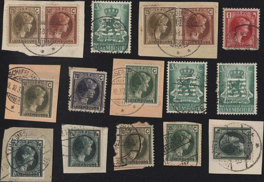 Timbres postes Selling stamps Luxembourg