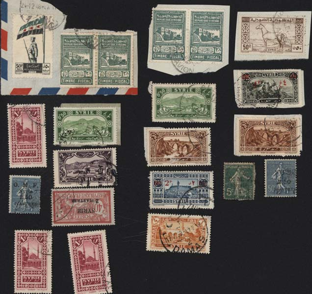Timbres postes Selling stamps Syrie