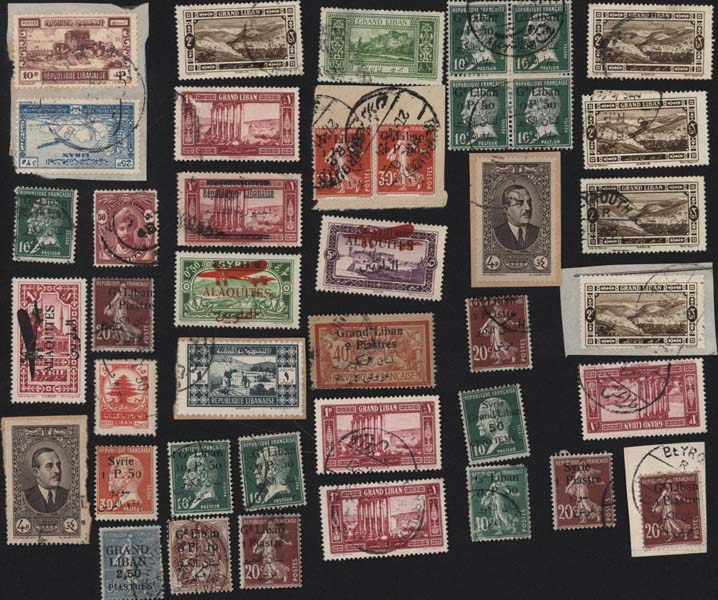 Timbres postes Selling stamps Liban