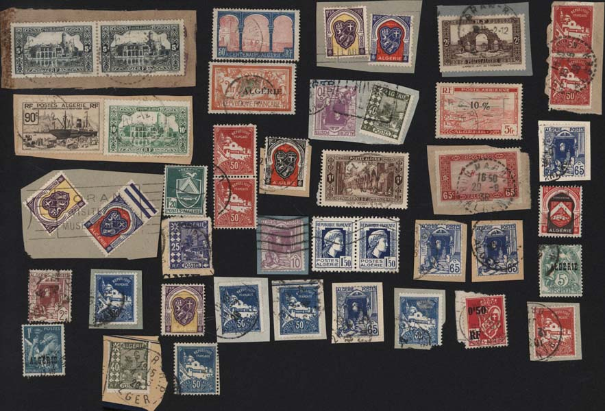 Autres collections  philatélie Stamps postals france Postage stamps collection Selling stamps Algérie