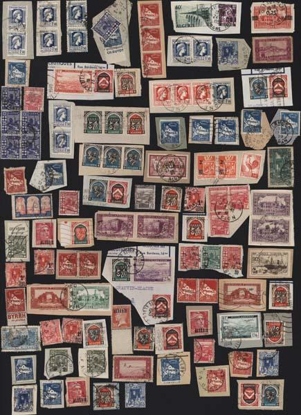 Cartes Postales Anciennes France Timbres lots Algérie lot