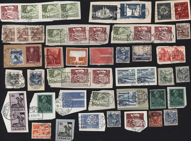 Timbres postes Selling stamps Suisse