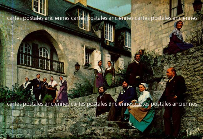 Old postcards tradition Tradition of touraine