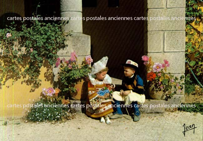 Old postcards tradition Tradition of bretagne Fouesnant