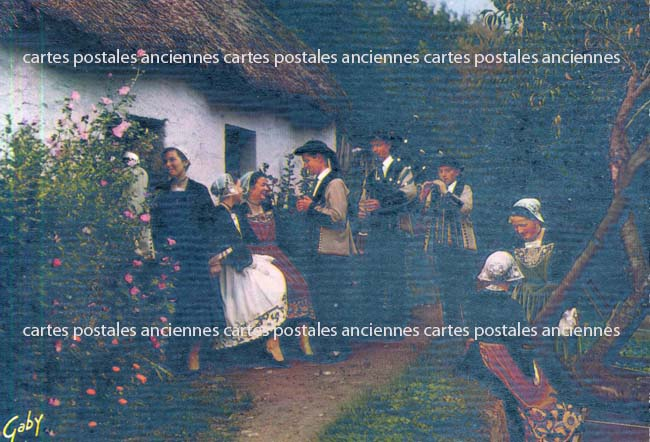 Old postcards tradition Tradition of bretagne Berric