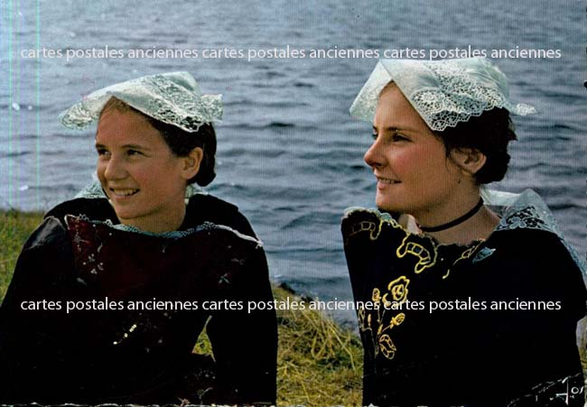 Old postcards tradition Tradition of bretagne Carnac