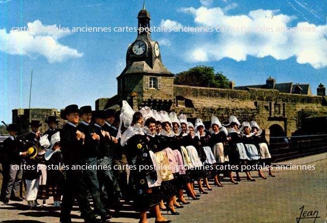 Old postcards tradition Tradition of bretagne Concarneau