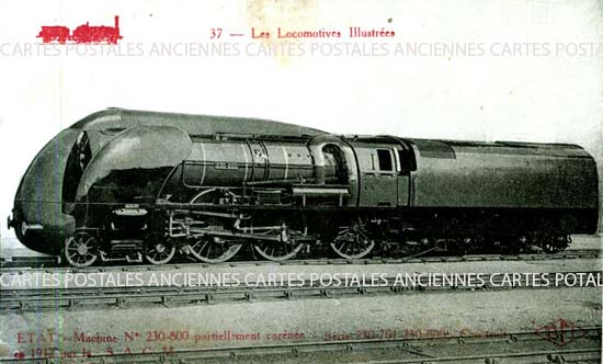 Old postcards railway, train
