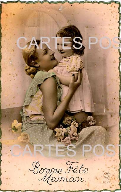 Old postcards fantasy personages Femme et enfants