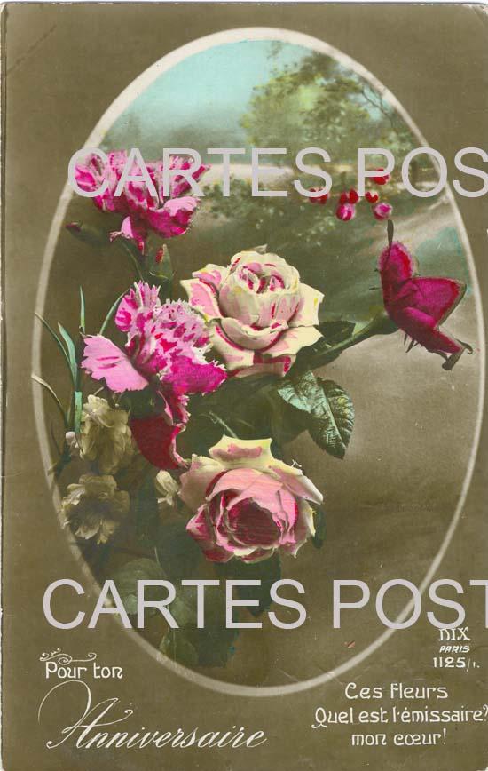 Old postcards fantasy Fleurs
